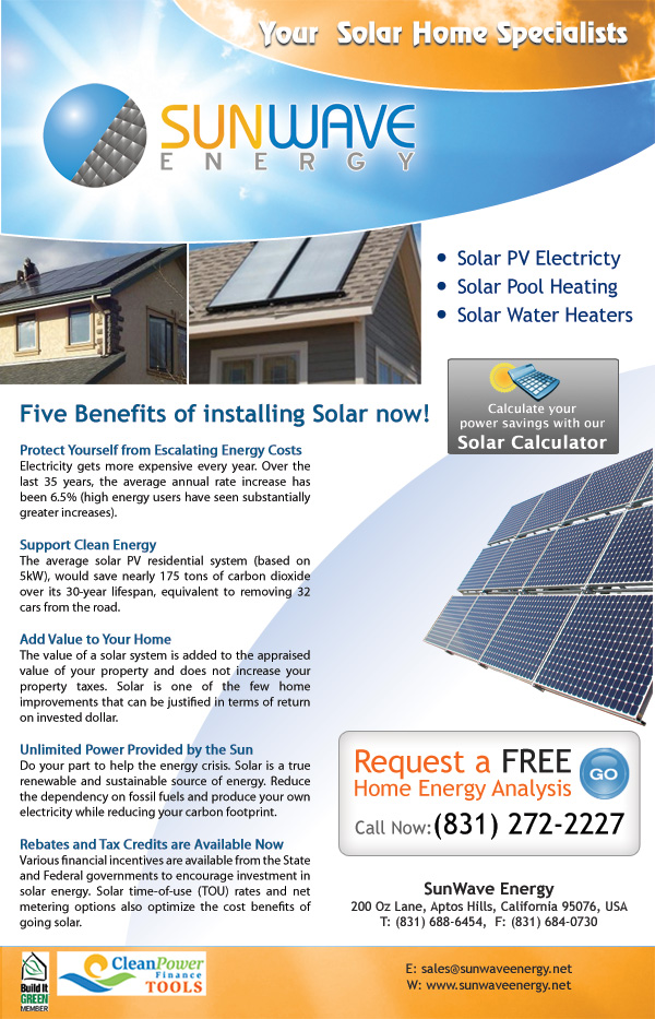 Advertisement - SunWave Energy - Solar Energy Company